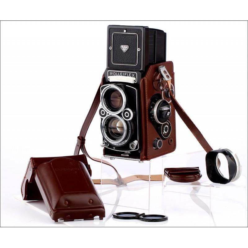 Espectacular Cámara Rolleiflex 2.8F del Año 1965. En Magnífico Estado y Con Varios Accesorios