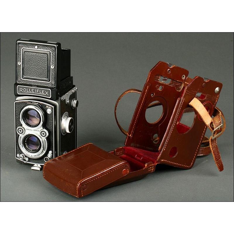 Cámara Fotográfica Rolleiflex Modelo 3,5 A de 1951. Muy Bien Conservada y Funcionando