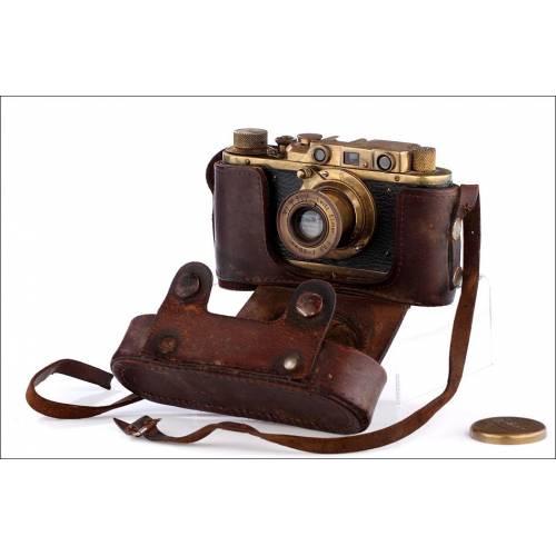 Copia Rusa Antigua de Cámara Leica II. En Buen Estado y Funcionando