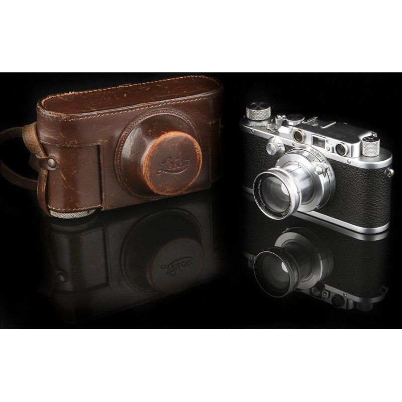 Clásica Cámara Fotográfica Leica IIIa en Muy Buen Estado. Fabricada en Alemania en 1935