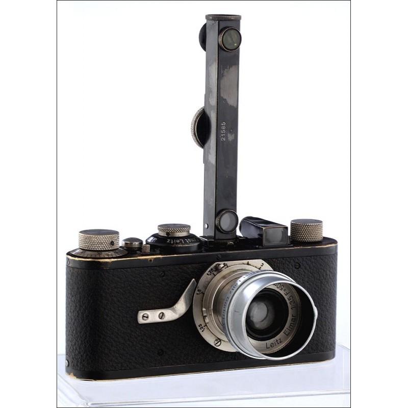 Cámara Leica I de 1929 num.14140 . Con Medidor de Distancias, Objetivo Original y Parasol. Funcionando
