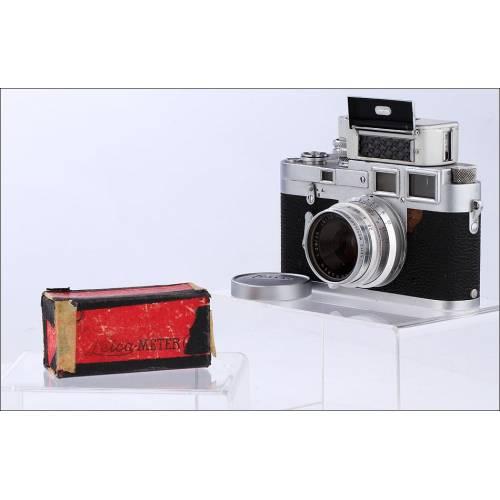 Cámara Leica M3 De Doble Carga, Objetivo Summaron M 35 /2.8 de 1955 y Fotómetro Original. Funcionando