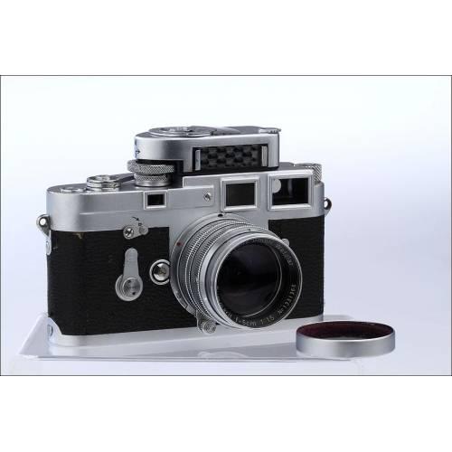Cámara Leica M3 con Objetivo Summarit M 50 / 1.5. Años 50 Y Fotómetro. Muy Bien Conservada