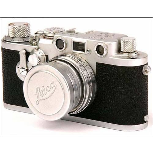 Magnífica Leitz Wetzlar Leica III f red dial. 1956