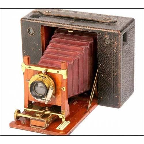 Antigua cámara de fuelle Kodak nº4. 1885