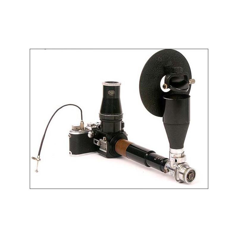 Leica III F con un raro aparato médico o científico. 1934