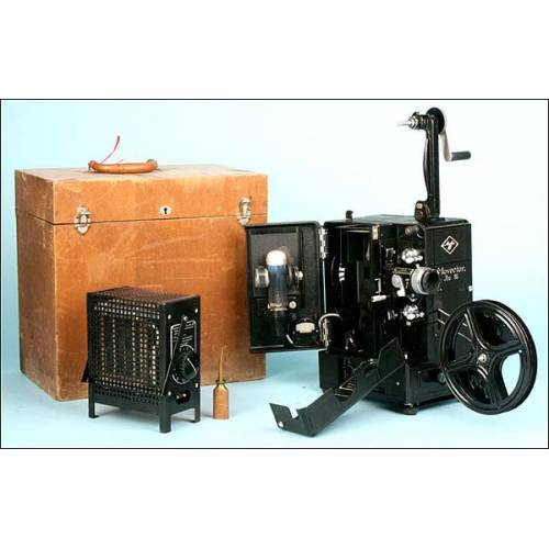 Proyector de cine Agfa para pelicula de 16 mm.