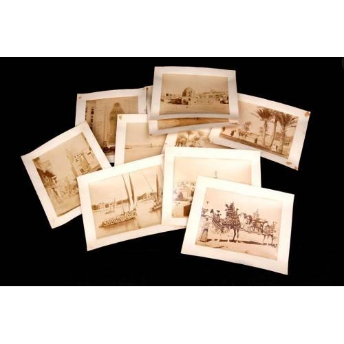 Fantástica Colección de 10 Fotografías Antiguas de los Hnos. Zangaki. Egipto, 1890