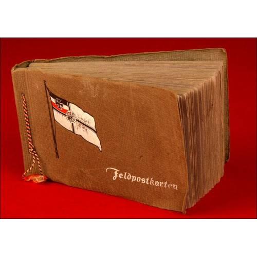 Album com 100 Postales Alemanas de Época de la 1ª Guerra Mundial, Completamente Originales