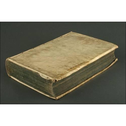 Antiguo Libro de Farmacia Publicado en Génova en 1703. Decorado con Gran Profusión de Grabados