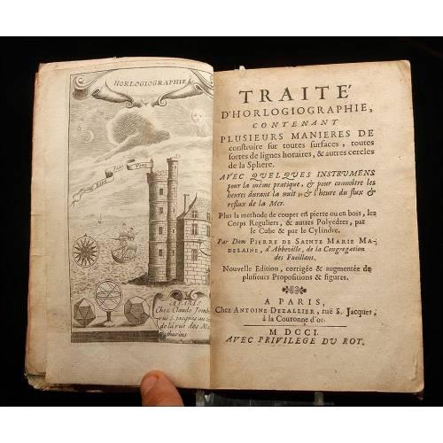 Antiguo Tratado para la Construcción de Relojes Solares. Francia, 1701
