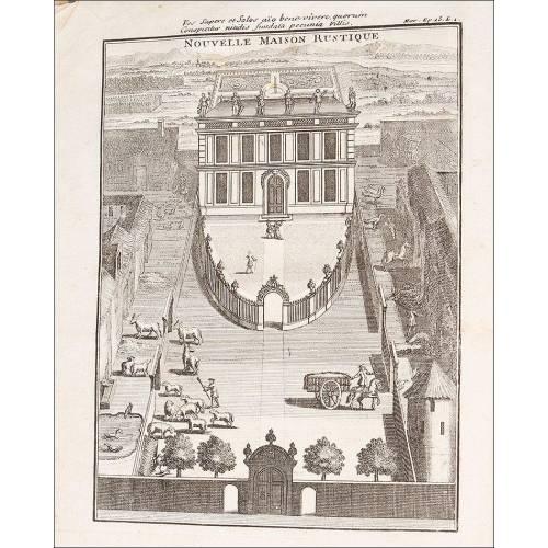 """Manual Para Granja, 1736. """"La nouvelle maison rustique, ou économie generale de tous les biens de champagne"""""""