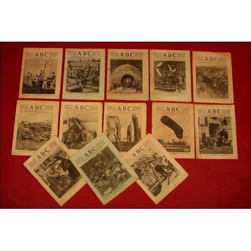 Colección de 27 ABC de la 1ª Guerra Mundial y 6 La Vanguardia de la 2ª Guerra Mundial