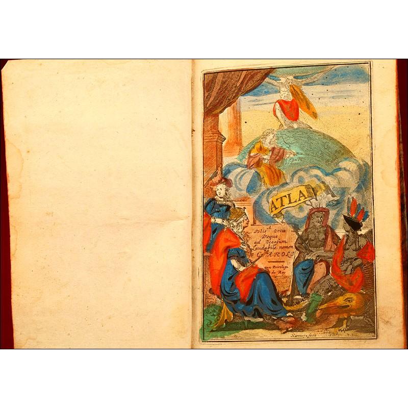 El Atlas Abreviado, o Compendiosa Geographia del Mundo Antiguo y Nuevo. 1709, Amberes. III Edición.