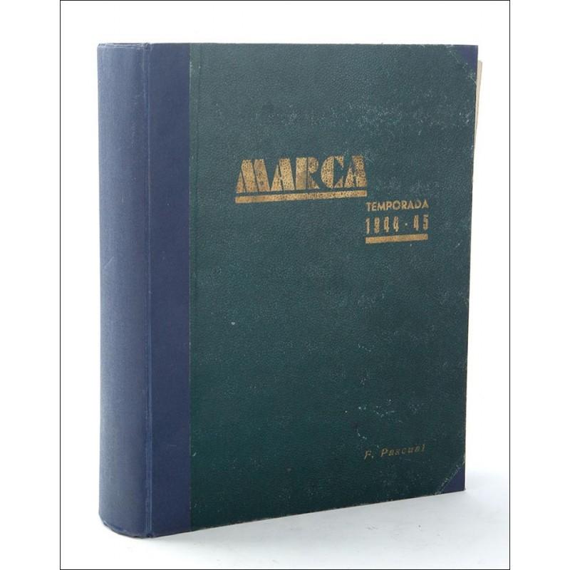 Extraordinaria Colección Encuadernada de Revistas Marca. Temporada 1944-45