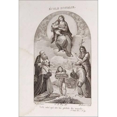 """Religión, 1804. """"Historia de la Vida de Jesucristo"""". Grabados de obras de Raphael, Rubens y otros."""