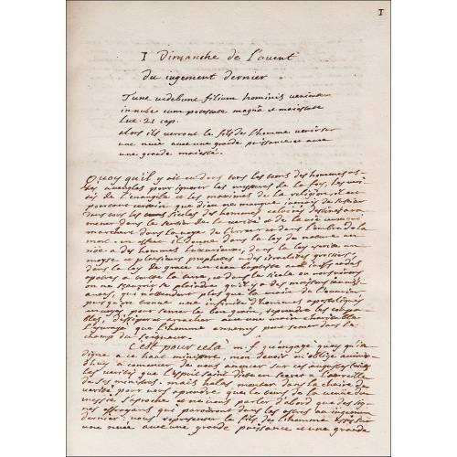 Manuscrito, 1737-1738. Sermones Religiosos. 530 Páginas. Encuadernación de época.
