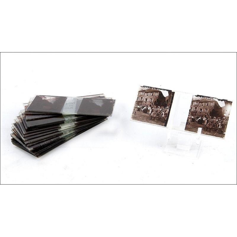 24 Placas Estereoscópicas de la I Guerra Mundial. Francia, 1914-1918 (45x130)