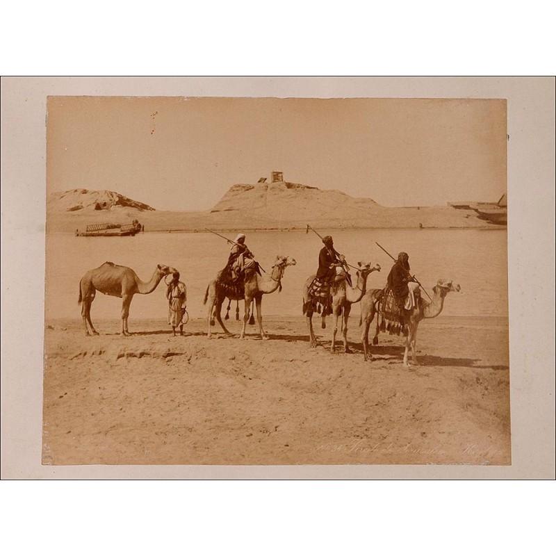 8 Fotografías a la Albúmina de los hermanos Zangaki. Egipto, Circa 1880