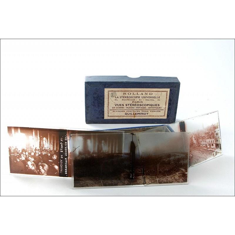 Lote de 20 Placas Estereoscópicas con Imágenes de la 1º Guerra Mundial. (6x13) Francia, 1914-18