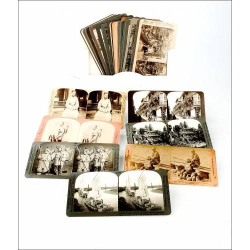 Lote de 36 Reimpresiones de Fotos con Imágenes de China Tradicional de Principios del S. XX