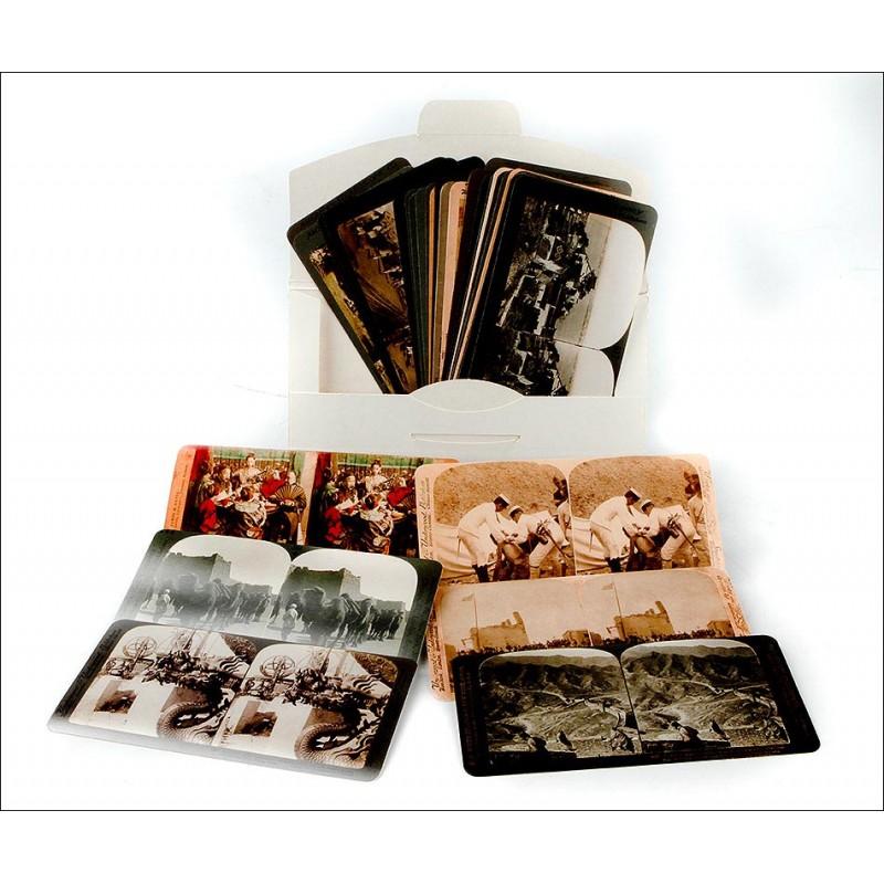 Atractivo Lote de 36 Reimpresiones de Fotos con Imágenes de China de Principios del Siglo XX
