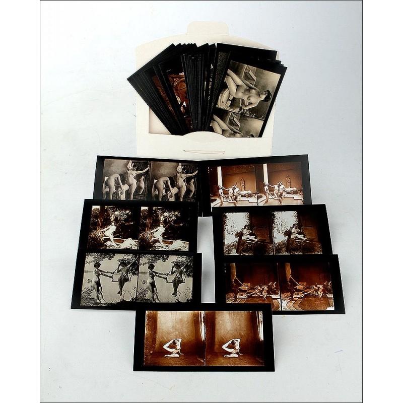 Lote de 48 Fotografías de Desnudos Antiguos. Reimpresiones de Francia, Circa 1910