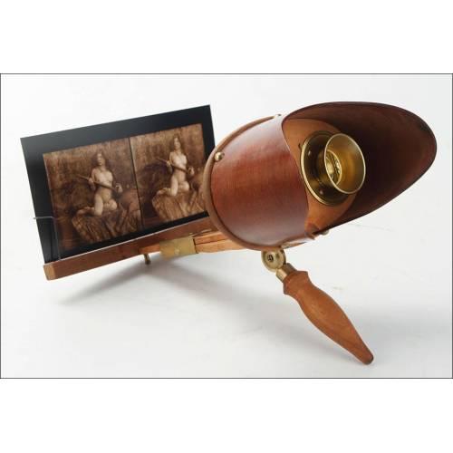 Magnífico Grafoscopio Antiguo con Lote de Fotos. En Funcionamiento. EEUU, 1883