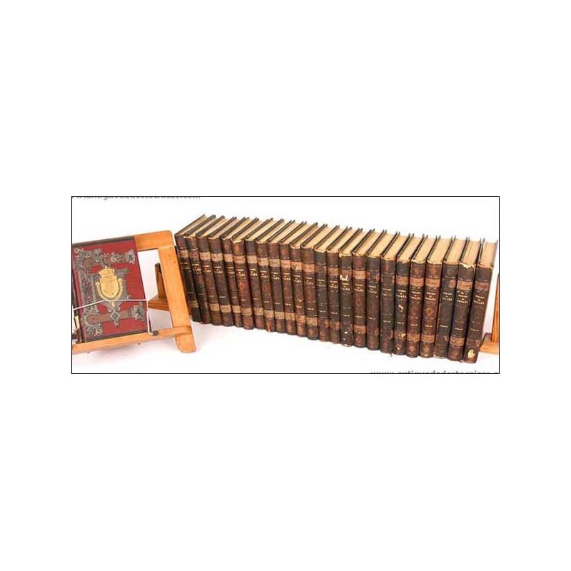 Historia de España. Modesto Lafuente. 25 volúmenes. 1889