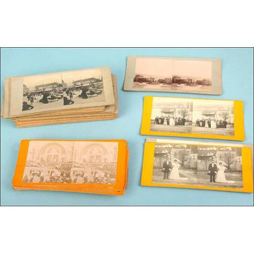 Lote de 48 fotos estereoscópicas. 1910