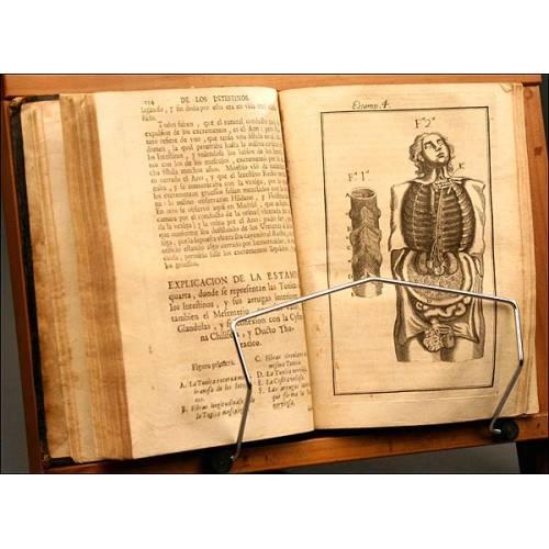 Anatomía Completa del Hombre, de Martín Martínez, Año 1728