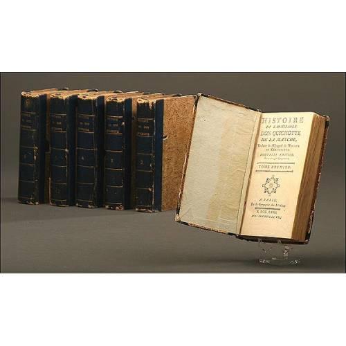 Don Quijote, Versión Francesa, Año 1771, 6 Volúmenes