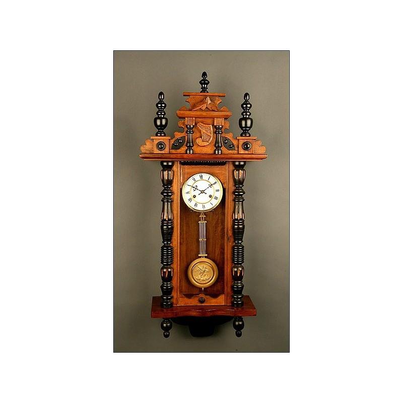 Importante Reloj de Péndulo Junghans, ca. 1880-1890. Realmente Perfecto.