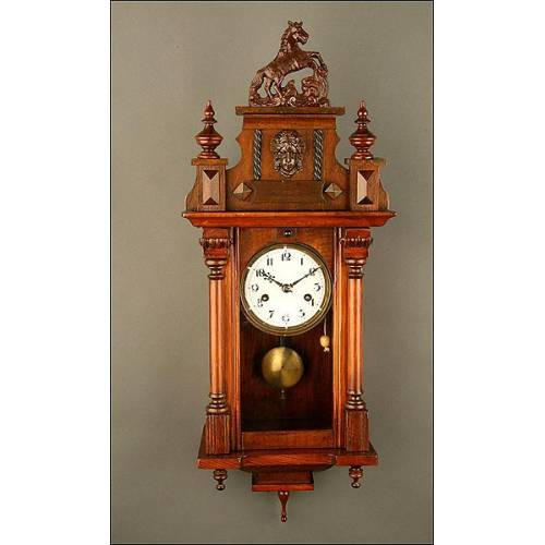 Reloj de Pared. Años 20. Funcionando.