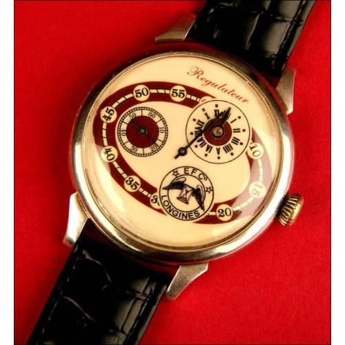 Precioso Reloj de Pulsera Longines con Dos Diales, 1916.