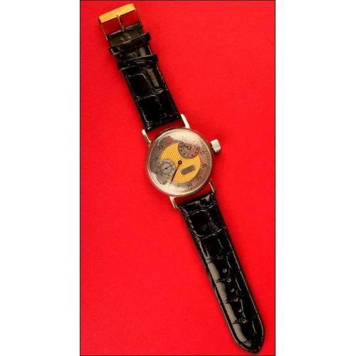 Genuino Reloj de Pulsera Vintage de la Marca Omega para Caballero modelo Regulateur, 1915.