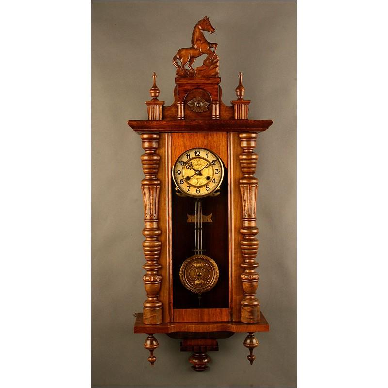 Antiguo Reloj de Pared Kienzle. Circa 1.826. Bien Conservado y Funcionando a la Perfección
