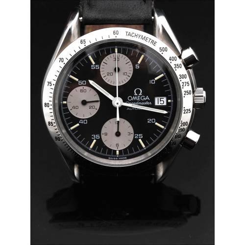 Reloj Cronógrafo Omega Speedmaster Automatic de 1993. Muy Buen Estado y Funcionando. Estuche Original