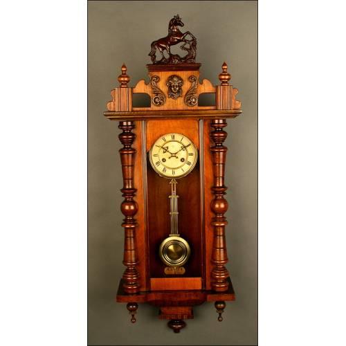 Importante Reloj de Péndulo Junghans, ca.1880-1890.