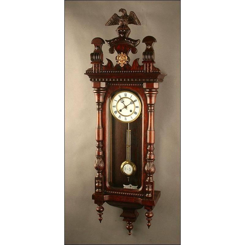 Importante reloj de pared alem n a o realizado en - Relojes pared antiguos ...