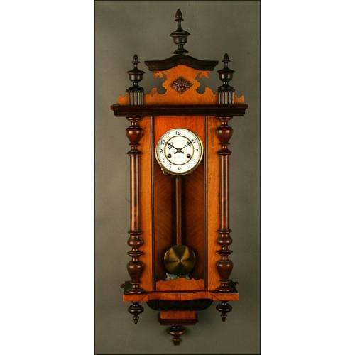 Reloj de Pared con Sonería Junghans. Año 1900. Funcionando. Firmado