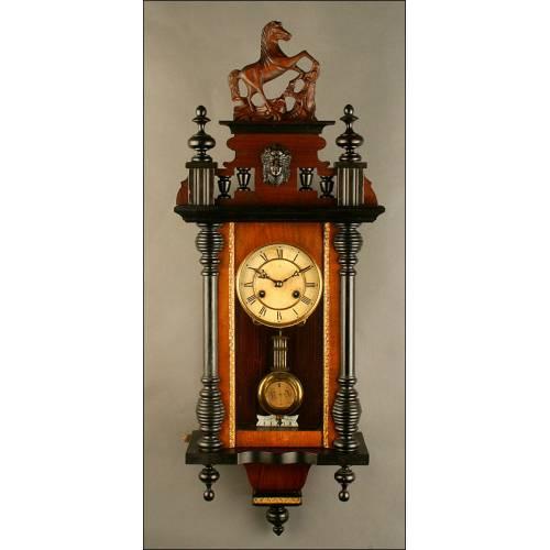 Original Reloj de Péndulo Junghans, ca. 1880-1890.