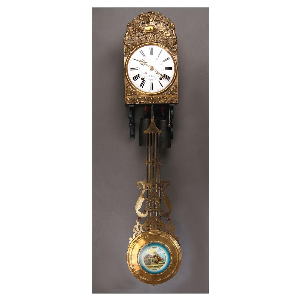 Delicado reloj de pared morez fabricado en francia en 1920 - Relojes de pared ...
