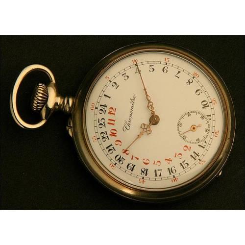 Reloj de Bolsillo Lepine 24 horas, Suiza, Año 1900. Rareza