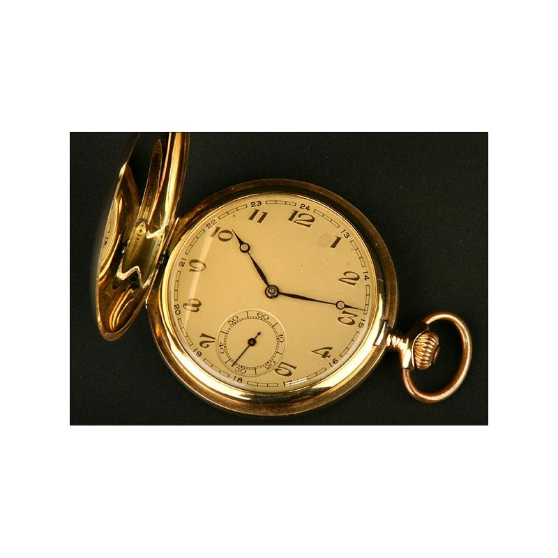 Reloj Saboneta, Suiza, Oro Macizo, Del Año 1900