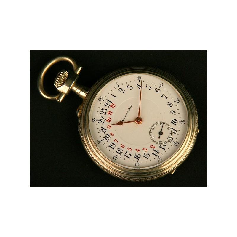 Reloj Lepine 24 horas, Suiza, Datado sobre 1900. Raro