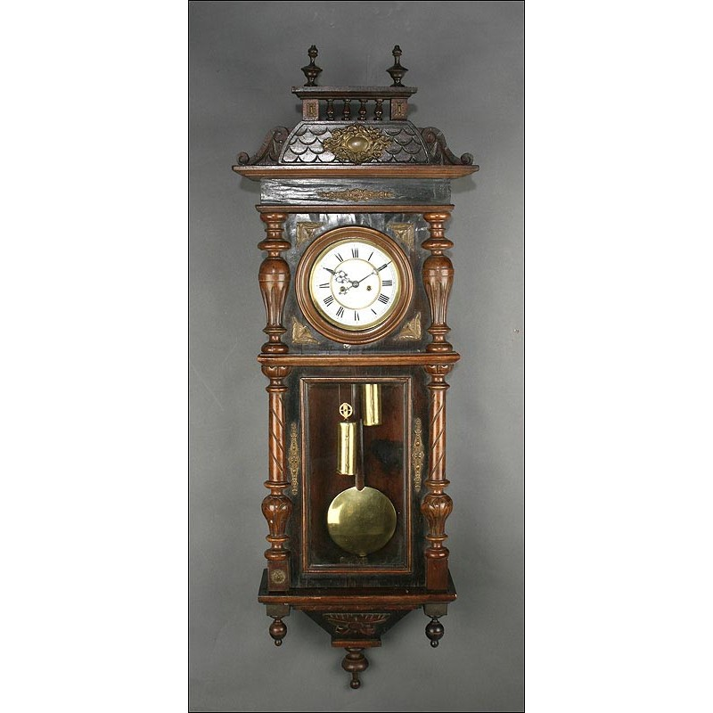 Gran Reloj de Pared Viena Gustav Becker del Siglo XIX. Funcionando Perfectamente