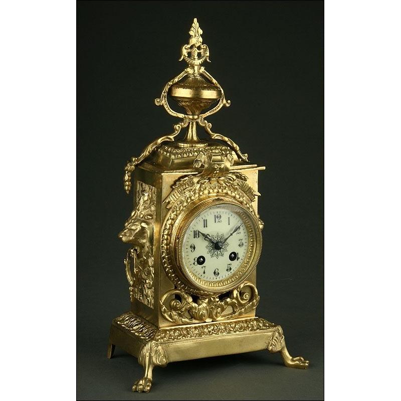 Magnífico Reloj Francés de Sobremesa del Año 1900. Perfectamente Conservado y Funcionando