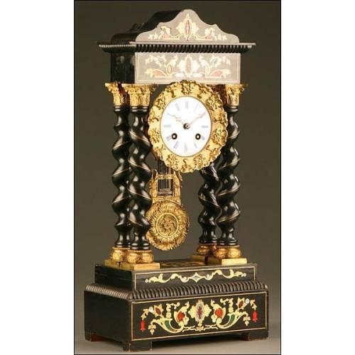 Reloj Pórtico de Sobremesa con sonería, Francia, 1855