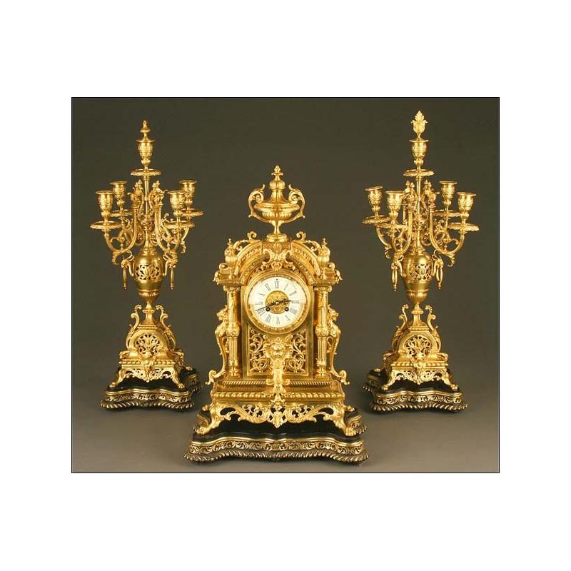 Reloj de Sobremesa con Sonería, Francia, Siglo XIX